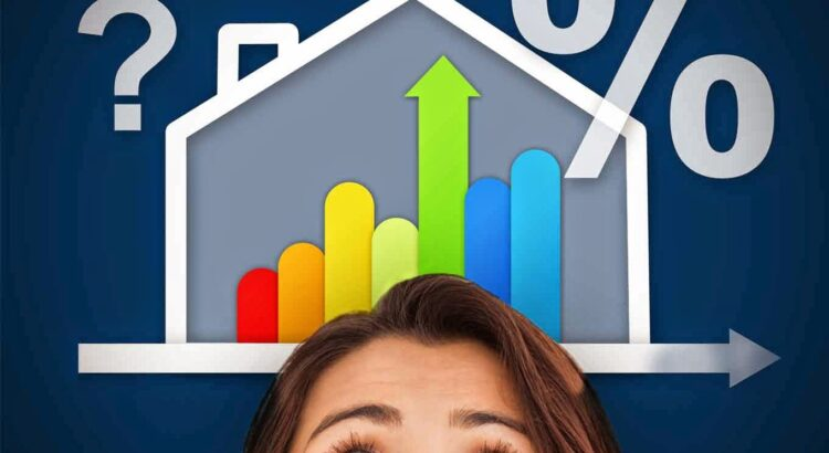 Woman and mortgage graphic