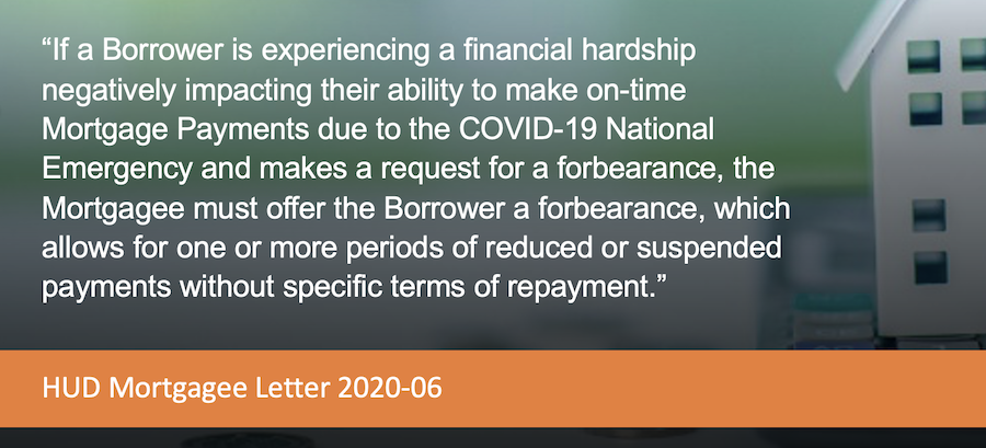 HUD Forbearance quote
