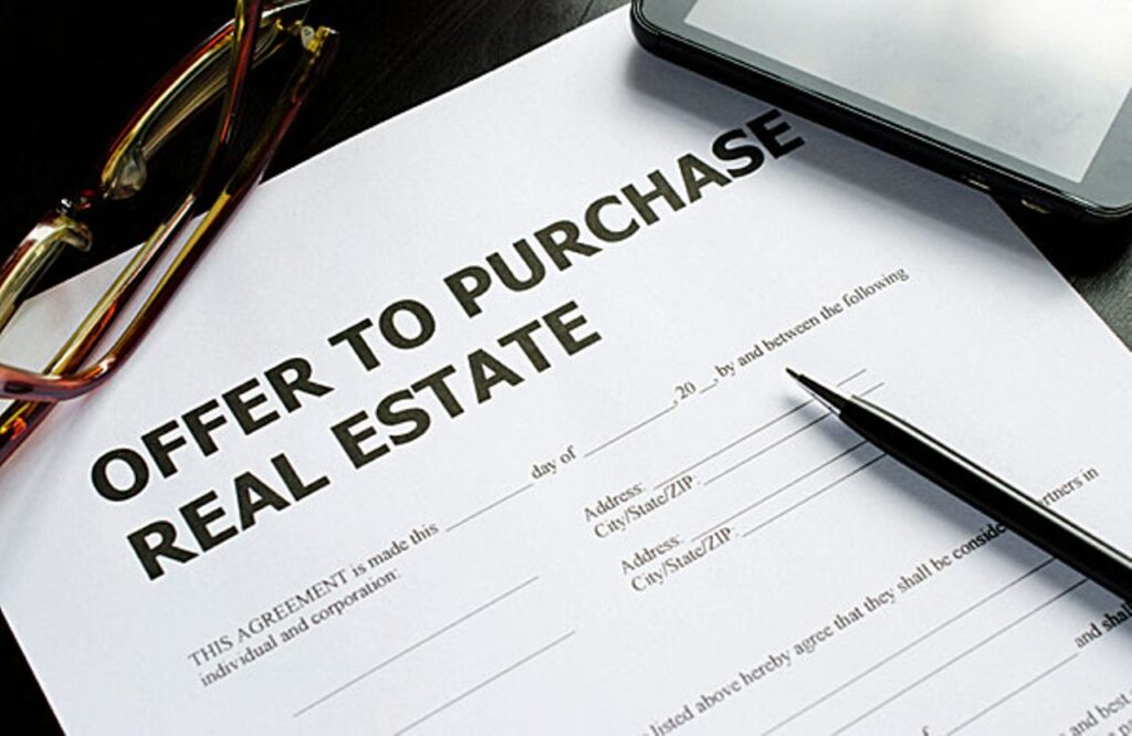 Purchase offer for real estate