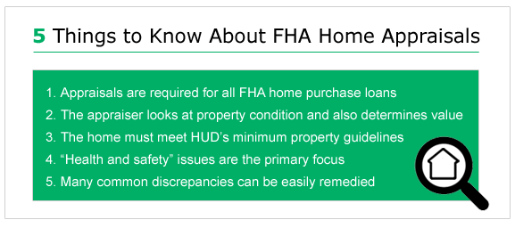 FHA Appraisal Guidelines in 2019 - What the Appraiser Looks for